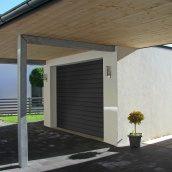 Секційні гаражні ворота ALUTECH TREND S-гофр 2500х2250 мм RAL7016 сірий антрацит