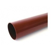 Труба водосточная Bryza ПВХ 90 мм 3 м коричневая
