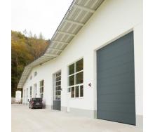 Промислові ворота ALUTECH ProPlus мікрохвиля 4000х5000 мм RAL 7016 сірий антрацит