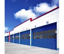 Панорамні ворота ALUTECH AluPro 4460х4000 мм RAL 5010 синій