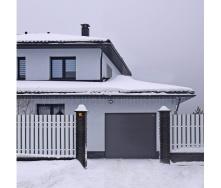 Секційні гаражні ворота ALUTECH PRESTIGE мікрохвиля 2500х2500 мм ADS 703 антрацит