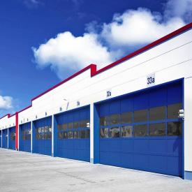 Панорамные ворота ALUTECH AluPro 4460х4000 мм RAL 5010 синий
