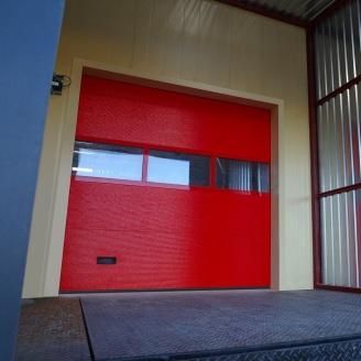 Промышленные ворота ALUTECH ProTrend микроволна 2875х3000 мм RAL 3004 пурпурно-красный