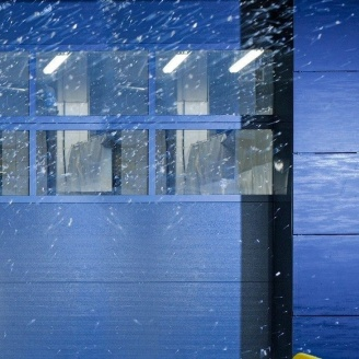 Панорамні ворота ALUTECH AluTherm 3500х3750 мм RAL 9006 сріблястий металік