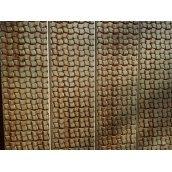 Декоративное тиснение узора Ротанговое плетение на вагонку из ели