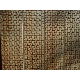 Фальш-брус з ялини 135x20 мм з декоративним тисненням Ротангове плетіння