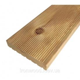 Террасная доска из лиственницы 27x120x4000 мм сорт ВС