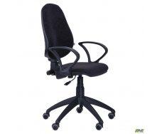 Офісне крісло АМФ Гольф-50 650x650x1180 мм чорне АМФ-4 Розана-17