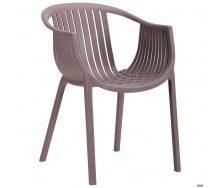 Садове крісло АМФ Crocus 770х540х610 мм пластик-PL какао