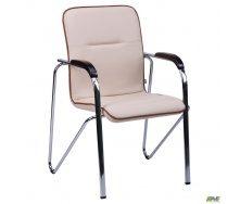 Офісне крісло-стілець АМФ Самба Неаполь N-17 з кантом корпус хром 570x680x885 мм горіх