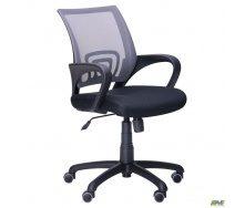 Офисное кресло AMF Веб 1010-880х550х600 мм сиденье сетка черная/спинка сетка серая 530x530x1030 мм