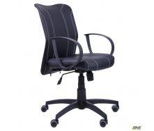 Компьютерное кресло АМФ-8 Лайт LB Софт 950-880х570х650 мм черный кожзам нитка белая