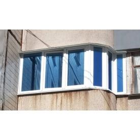 Остекление Г-образного балкона Rehau 60
