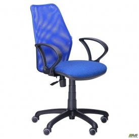 Офисное кресло АМФ Oxi-4 870-1000х560х610 мм сиденье Квадро-20 спинка сетка синяя