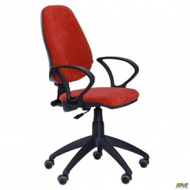 Офісне крісло AMF Гольф-50 1180-1060х650х650 мм червоне сидіння АМФ-4 Розана-4