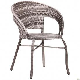 Пластикове крісло AMF Catalina ротанг сірий