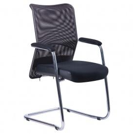Офисное кресло АМФ Аэро CF хром 920х570х520 мм черная-сетка Неаполь N-20