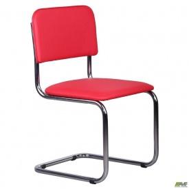 Конференц-стілець AMF Сільвія 870х480х530 мм хром червоний