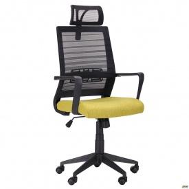 Компьютерное кресло AMF Radon 117-133х59х58 см черно-оливковый