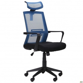 Офисное кресло AMF Neon 116-135х58х66 см светло-синий-черное
