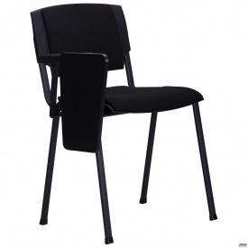 Конференц-стілець АМФ Призма 820х540х560 мм зі столиком чорний