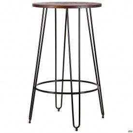 Барный стол AMF Nirvana 600 мм круглый черный