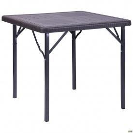 Стол складной AMF Фиат WAK-78 пластик 78х78х70 см Wooden Brown