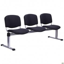 Рядний стілець AMF Ізо-3 А-01 Алюм 1790x830x600 мм