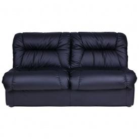 Офісний диван AMF Візит двомісний 1650x1070x840 мм чорний кожзам
