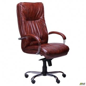 Кресло Палермо Хром Механизм MB Мадрас табак 64х80х112 см