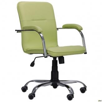 Офісне крісло АМФ Самба-RC 880-1110х640х680 мм салатова без канта