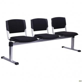 Рядный стул AMF Призма-3 А-01 Алюм 1790х810х600 мм