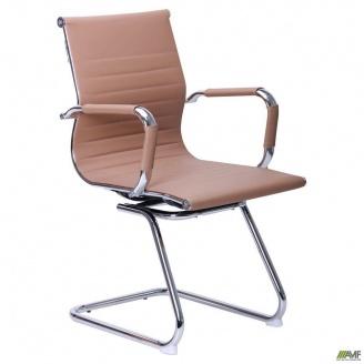 Кресло-стул AMF Slim CF XH-632C бежевый на полозьях хром