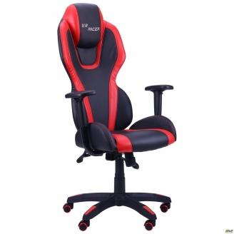 Кресло AMF VR Racer Atom PU черный/красный
