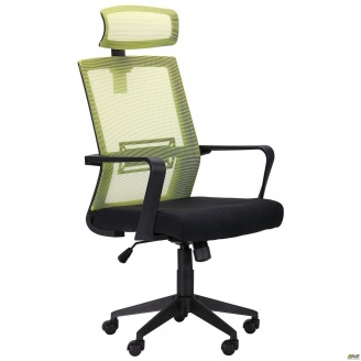 Офісне крісло AMF Neon HR 1120-1280х580х650 мм салатовое черное