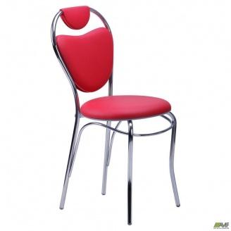 Обідній стілець АМФ Соул 890х400х450 мм каркас-хром кожзам червоний