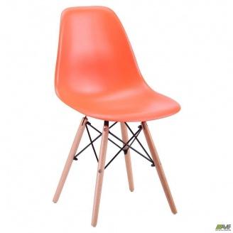 Стул АМФ Aster PL Wood пластик оранжевый