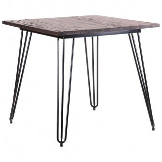 Квадратный стол АМФ Smith 80х80 см черный