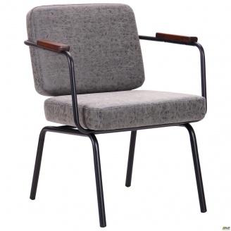 Офісне м`яке крісло АМФ Oasis 810х630х650 мм чорний бетон