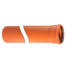 Труба поливинилхлоридная для наружной канализации и ливнестоков Кристан 315 7,7 мм 6 м