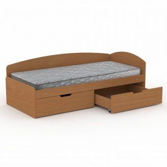 Односпальная кровать Компанит 90+2С ДСП 2042х944х700 мм бук