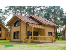 Строительство дома из клееного бруса 200 мм 115 м2
