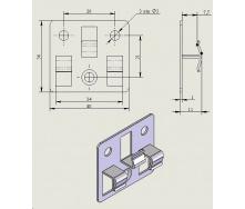 Клипса Strimex для террасных и фасадных систем