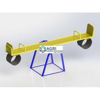 Гойдалка-балансир з гумовим відбійником 2,4х0,5х0,9 м