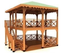 Будівництво дерев`яної двоповерхової альтанки під ключ