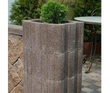 Квітник квадратна Золотий Мандарин 500х400х250 мм на сірому цементі коричневий
