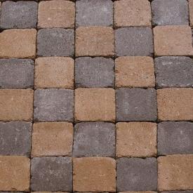 Тротуарна плитка Золотий Мандарин Квадрат Антик 160х160х90 мм повний прокрас персиковий