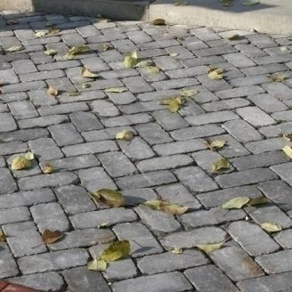 Тротуарная плитка Золотой Мандарин Кирпич Антик 240х160х90 мм полный прокрас серый