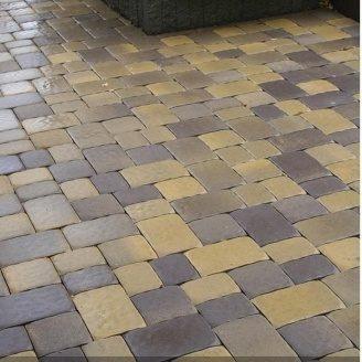 Тротуарная плитка Золотой Мандарин Старая площадь 160х40 мм генуя