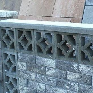 Блок декоративный Золотой Мандарин Гармония 300х90х300 мм серый